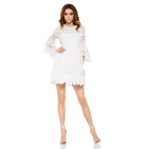 Lemoniade Romantyczna sukienka z koronki l262 ekri