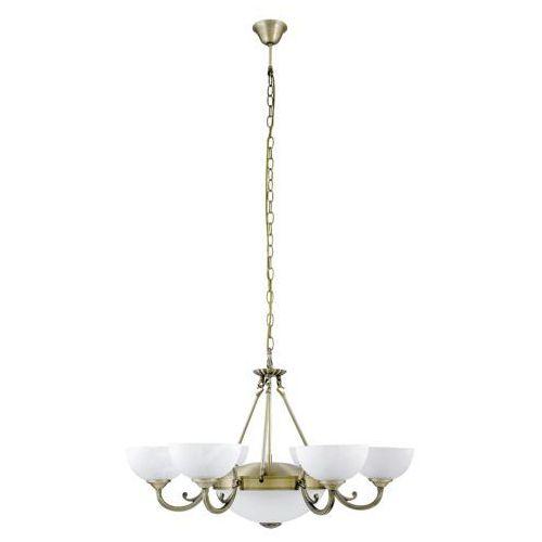 Rabalux Lampa wisząca zwis marlene 6x40w e14 + 2x60w e27 brąz/biały 8546 (5998250385464)