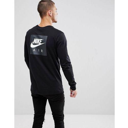 Nike Air Long Sleeve Top With Sleeve Print In Black 893392-010 - Black