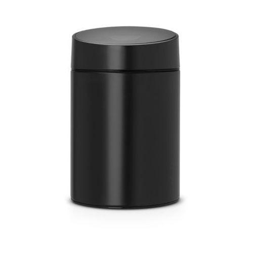 Brabantia - Kosz Slide Bin - pokrywa plastikowa – 5L - czarny / pokrywa czarna