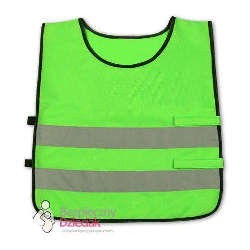 Kamizelka odblaskowa dla dzieci 3 - 6 lat, 42x45cm - zielona (2501234501571)