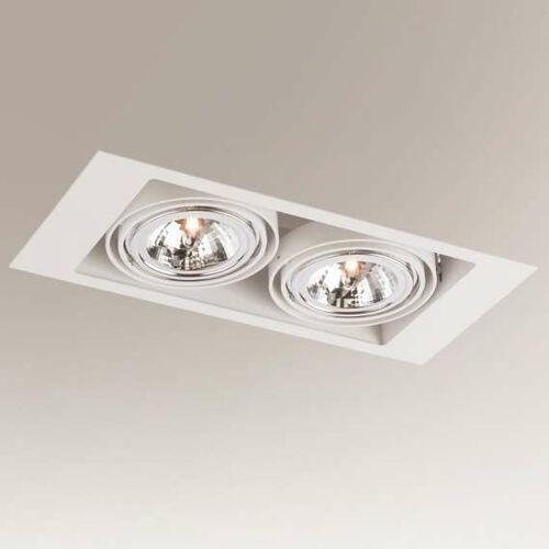 Wpuszczana lampa sufitowa muko 7354 podtynkowa oprawa do łazienki prostokątna wpust biały marki Shilo