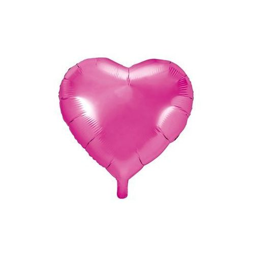 Balon foliowy Serce ciemnoróżowe - 45 cm - 1 szt. (5902230771925)