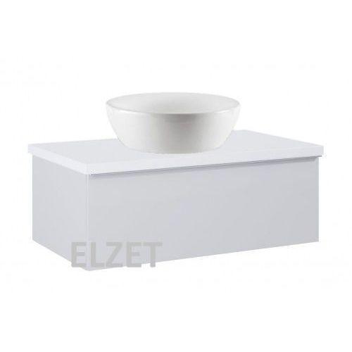 ELITA szafka Look 1S stone matt pod umywalkę nablatową + blat 80 white 167595+166892, 167595.166892