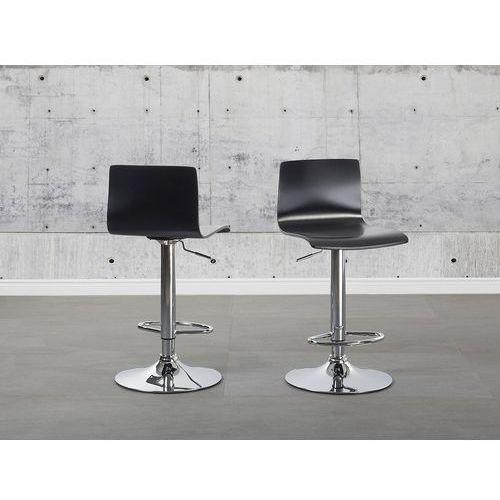 Hoker czarny - hoker barowy - krzesło barowe - VALENCIA