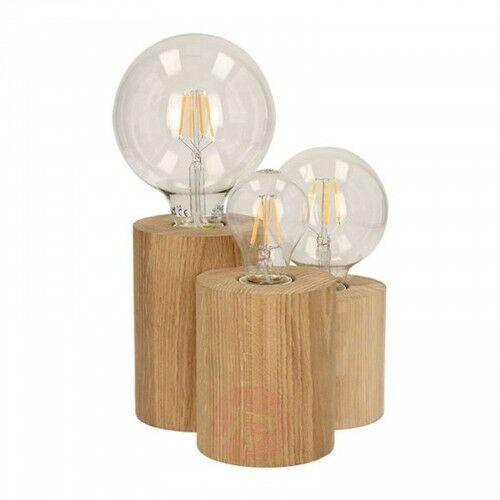 3-punktowa lampa stołowa Vincent z drewna dębowego, 22527422131