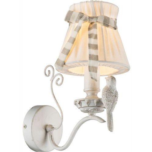 Kinkiet oprawa lampa ścienna Globo Savio 1x60W E14 biały/patyna 69027-1W