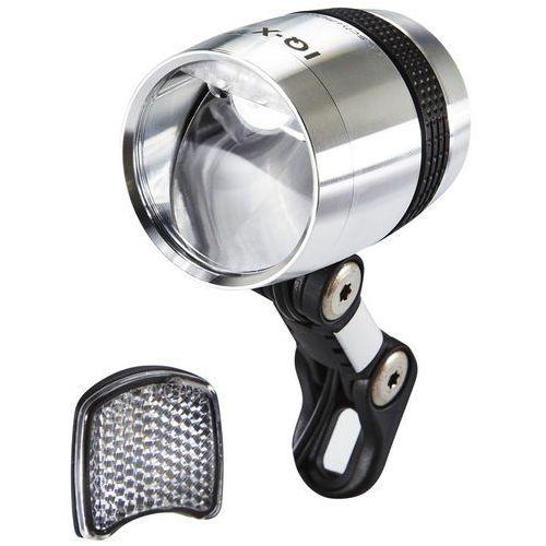 Busch + müller lumotec iq-x oświetlenie led srebrny 2018 lampki na dynamo