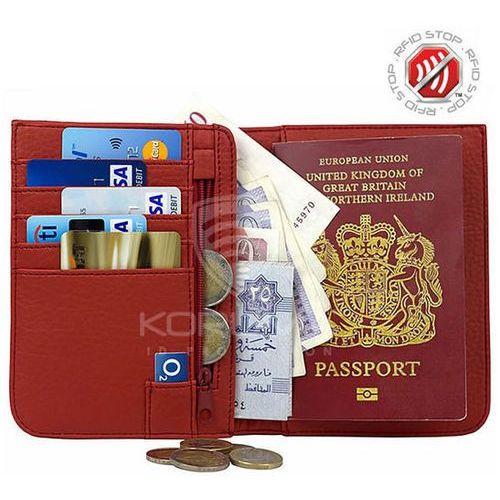 Koruma® ✅ portfel zabezpieczający karty zbliżeniowe paszport rfid (czerwony) - czerwony (5903111394677)