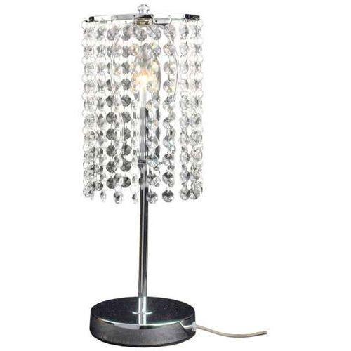 Stojąca LAMKA nocna BRIGHT STAR LP-812/1T Light Prestige kryształowa LAMPA stołowa glamour kryształki tuba przezroczysta