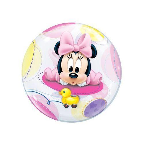 Qualatex Balon foliowy bubble mała myszka minnie - 56 cm