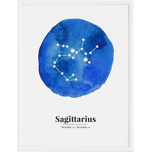 Plakat sagittarius 21 x 30 cm marki Follygraph