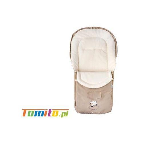 Śpiworek do wózka kombinezon zimowy polarowy Cappuccino