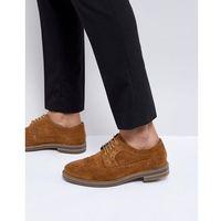 Base London Turner Suede Brogue Shoes in Tan - Tan
