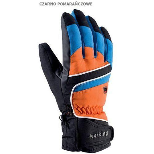 Viking Męskie rękawice narciarskie  biset czarno-pomarańczowy 9, kategoria: nakrycia głowy