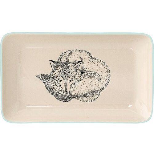 Talerz śniadaniowy adelynn śpiący lis jasnoniebieski (5711173152889)