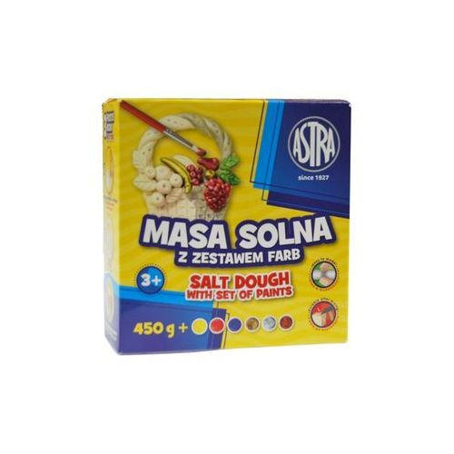 Astra Masa solna 450g + zestaw 6 farb do malowania