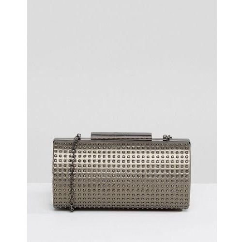 studded clutch bag - silver marki Nali