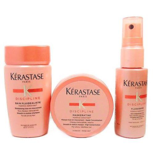 Kerastase Fluidealiste   Minizestaw dyscyplinujący włosy: kąpiel 80ml + maska 75ml + spray 45ml