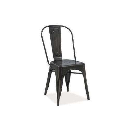 Krzesło Loft Czarny, kolor czarny