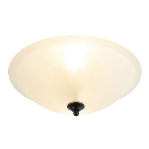 Klasyczna lampa sufitowa brązowa z beżowym szkłem - pirata marki Honsel