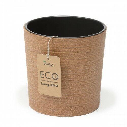 Donica malwa eco 30 cm dłuto brązowa 105/178-2 marki Lamela