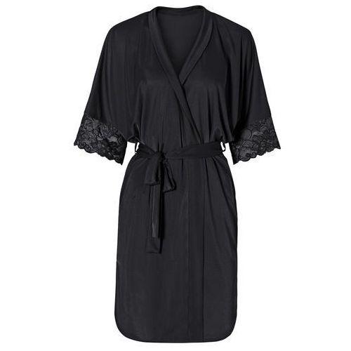 Szlafrok kimono bonprix czarny, kolor czarny
