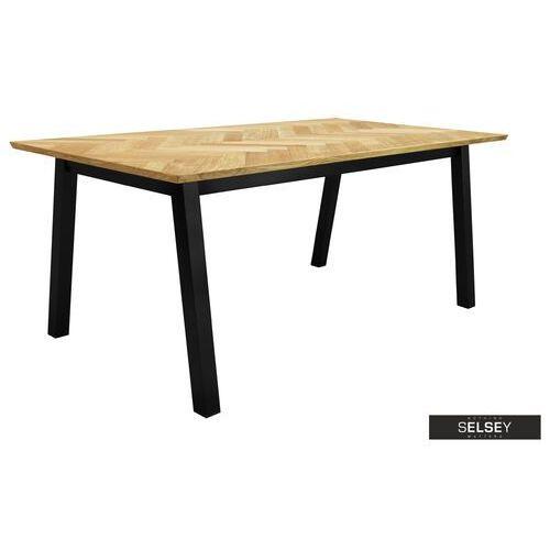 stół brighton 180x95 cm blat w jodełkę marki Selsey