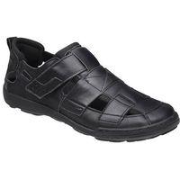 Półbuty sandały 1-4213-253 long czarne - czarny, Kacper