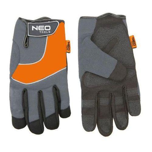 Neo Rękawice warsztatowe skóra syntetyczna wstawki pcv (5907558412901)
