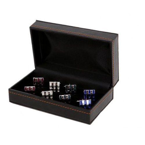 Pudełko na spinki do mankietów 4 pary