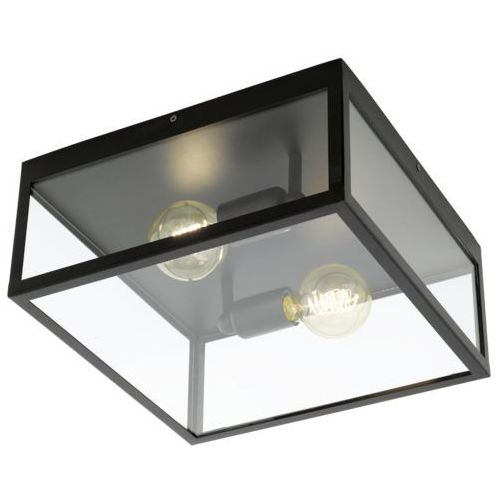 Eglo 49392 - Lampa sufitowa CHARTERHOUSE 2xE27/60W/230V, kolor czarny