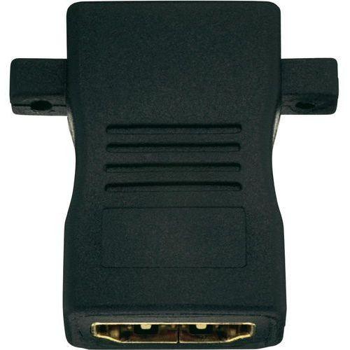 Przejściówka, adapter HDMI Inakustik 0090201001 90201001, [1x złącze żeńskie HDMI - 1x złącze żeńskie HDMI], Wykonanie złącza: proste, 0090201001