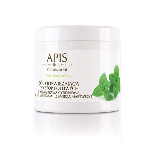 Apis natural cosmetics Apis fresh lime terapis sól odświeżająca do stóp z trawą cytrynową, miętą i minerałami z morza martwego 650 g (5901810001049)