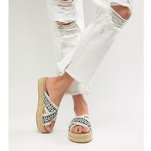 flatform espadrille sandals - white, London rebel