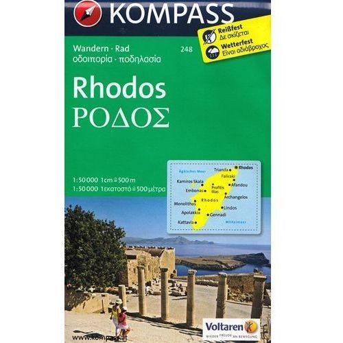 Rodos mapa 1:50 000 Kompass