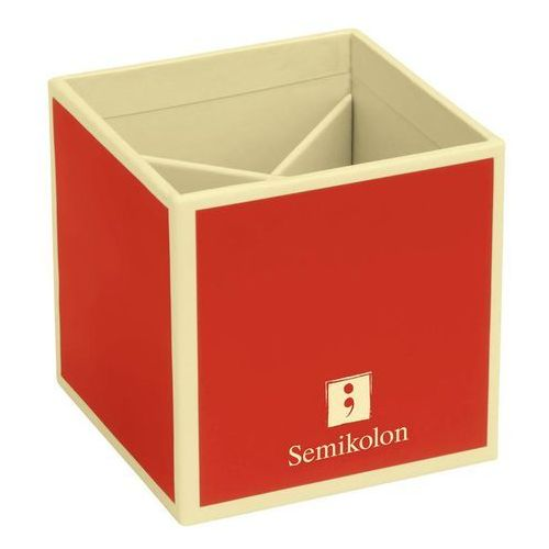 Pojemnik na długopisy die kante czerwony marki Semikolon