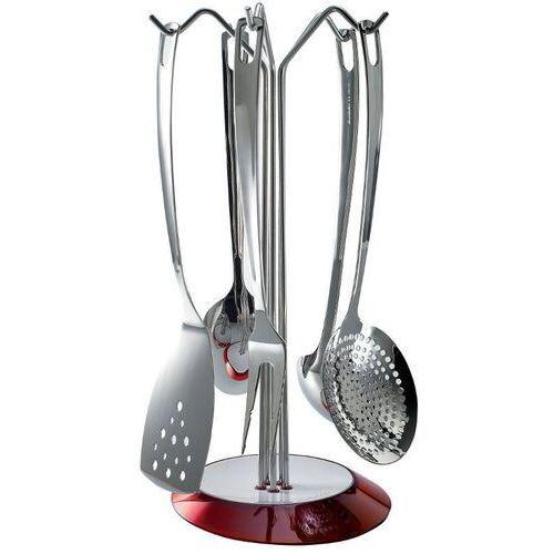 - glamour - zestaw 5 przyborów na stojaku czerwonym - czerwony marki Casa bugatti