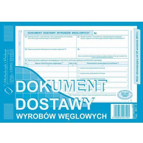 Dostawa wyrobów węglowych Michalczykl&Prokop 301-3 - A5 (oryginał+kopia)