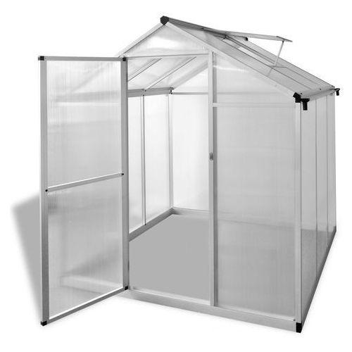 szklarnia ogrodowa ze wzmacnianą aluminiową ramą i podstawą 3,46 m2 marki Vidaxl