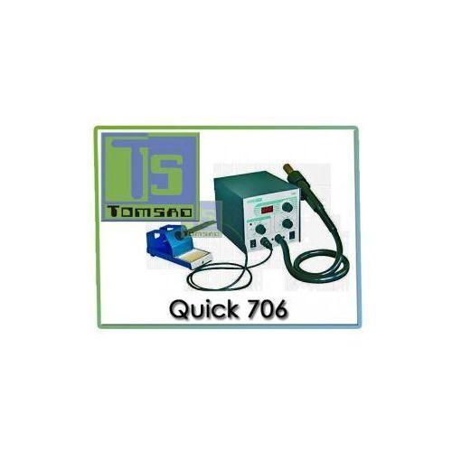 Quick 706 Zestaw lutowniczy (stacja 50W + HOT AIR 580W)