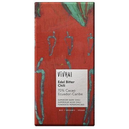 Vivani : czekolada gorzka z chili bio - 100 g (4044889000733)