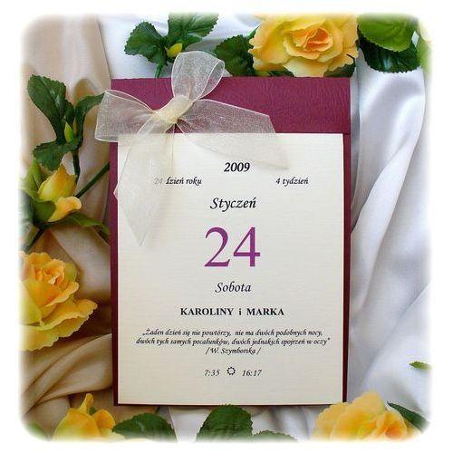 Gdzie Tanio Kupić Zaproszenia ślubne W Formie Kalendarza Sklep