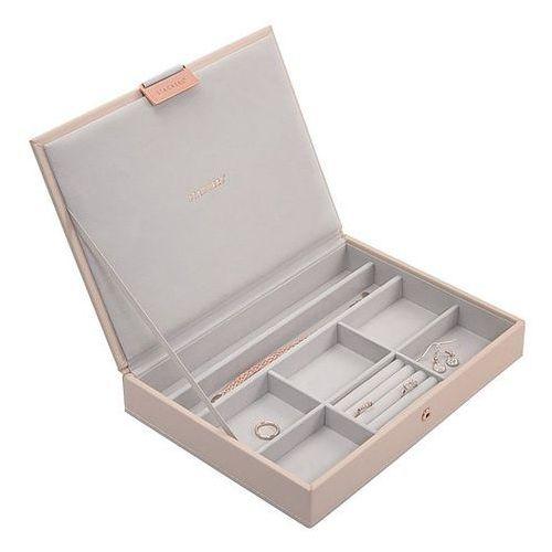 Pudełko na biżuterię z pokrywką classic Stackers jasnoróżowo-szare, 73760