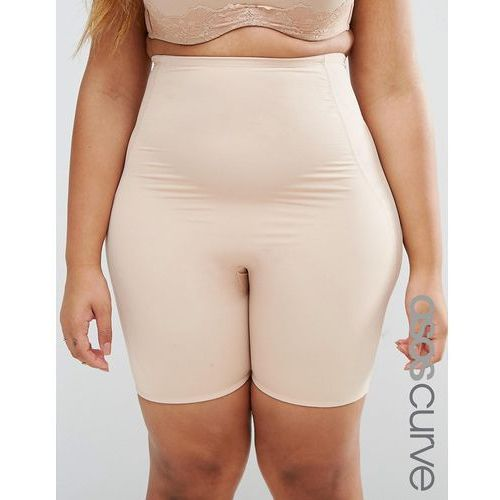 shapewear new improved fit contour waist cincher short - beige marki Asos curve