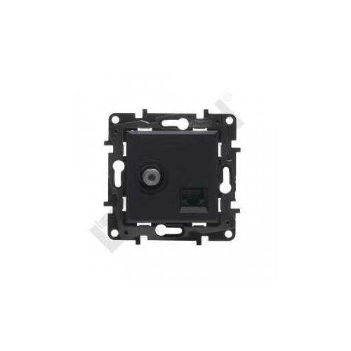 Legrand Gniazdo teleinformatyczne niloe step 863577 tv + rj45 kat. 6 utp podwójne czarne (3414971842984)