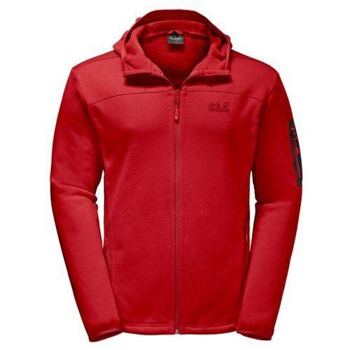 Kurtka polarowa CASTLE ROCK HOODED JACKET - ruby red, jersey
