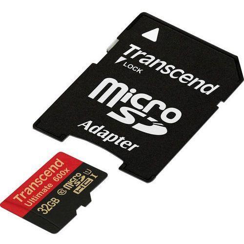 Karta pamięci microSDHC Transcend TS32GUSDHC10U1, 32 GB, Class 10, UHS-I, 90 MB/s