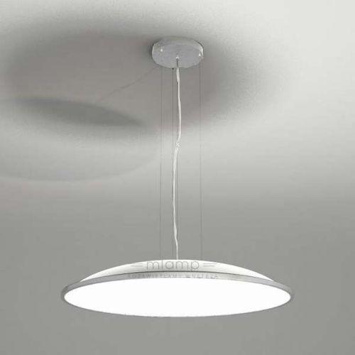 Wisząca LAMPA minimalistyczna WANTO 5523-B/E27/BI Shilo okrągła OPRAWA zwis biały, kolor Biały