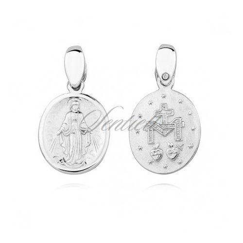 Silver (925) doublesided pendant - miraculous virgin mary / blessed virgin mary - ks0190c marki Sentiell